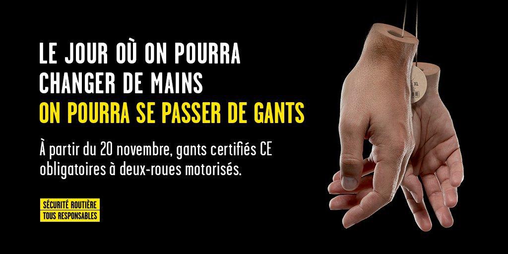 gants homologués obligatoire motards